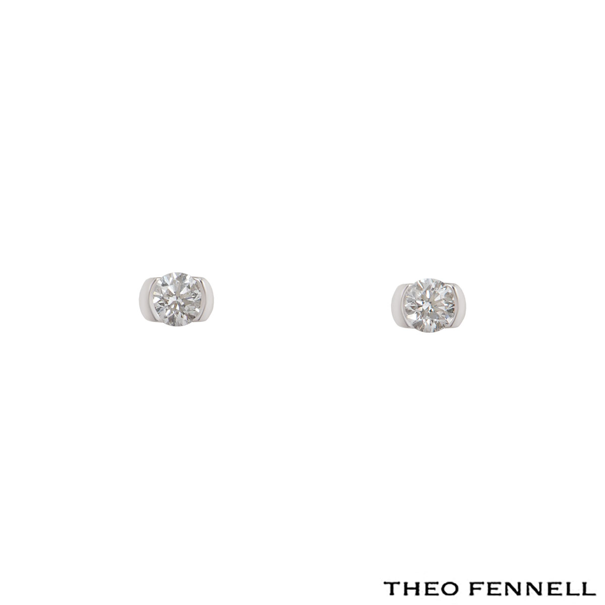 Theo Fennell White Gold Diamond Stud Earrings 0.50ct G/VS1